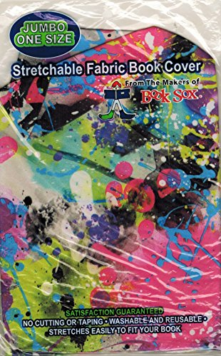 Fabric Book Covers Office Depot : Stetchable fabric book cover paint splatter jumbo size
