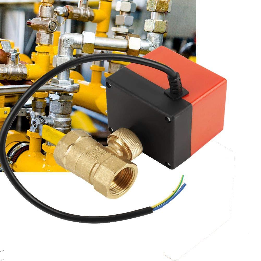 v/álvula de bola el/éctrica de 2 v/ías DN20 para control de flujo V/álvula de bola motorizada de lat/ón AC 12V G3//4