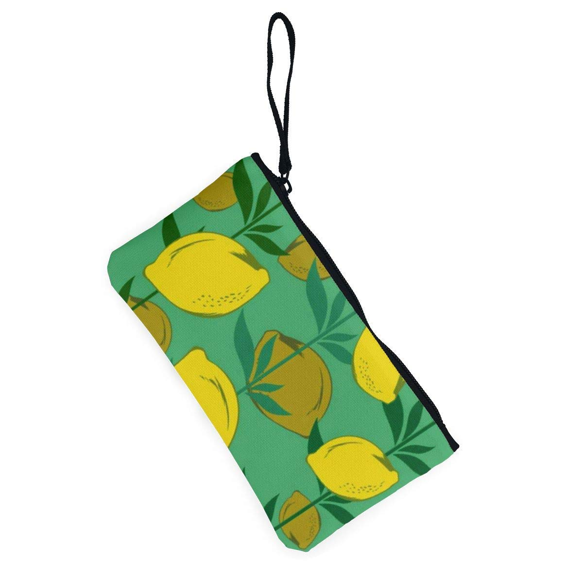 Coin Purse Lemon Tree Womens Zipper Canvas Wallet ChangeDesigner Holder