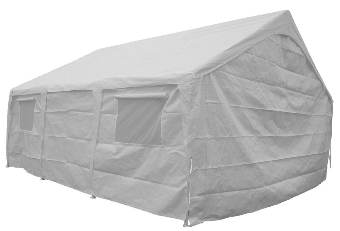 Impact Canopy 70332020 Sidewalls Portable Carport 20 x 20' White