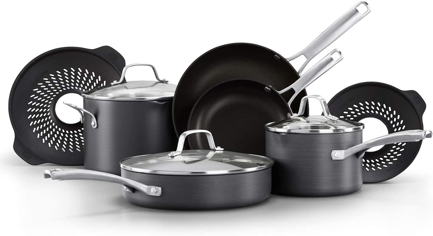 Calphalon Classic Pots and Pans Boil-Over Inserts, Nonstick Cooking Set