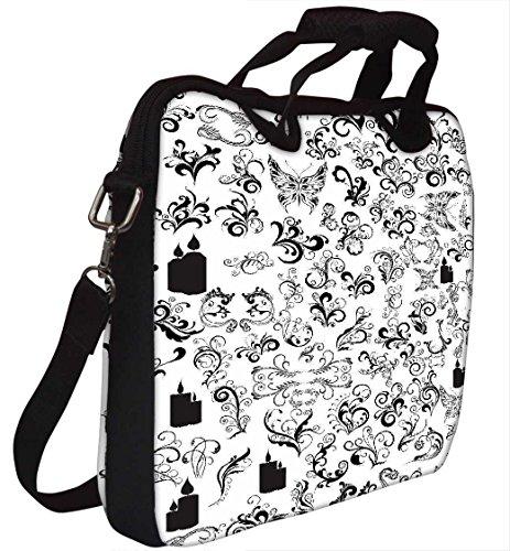 Snoogg Muster Schmetterlinge 30,5cm 30,7cm 31,8cm Zoll Laptop Notebook Computer Schultertasche Messenger-Tasche Griff Tasche mit weichem Tragegriff abnehmbarer Schultergurt für Laptop Tablet PC Ult