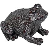 Sunnydaze Weathered Garden Frog Statue, Outdoor Decorative Lawn Ornament and Yard Sculpture
