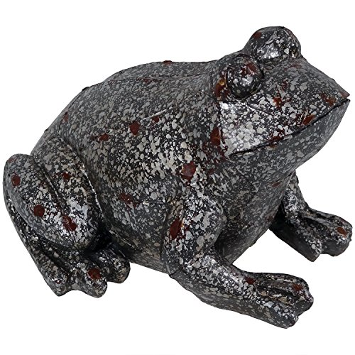 Sunnydaze Weathered Garden Frog Statue, Outdoor Decorative Lawn Ornament and Yard Sculpture by Sunnydaze Decor