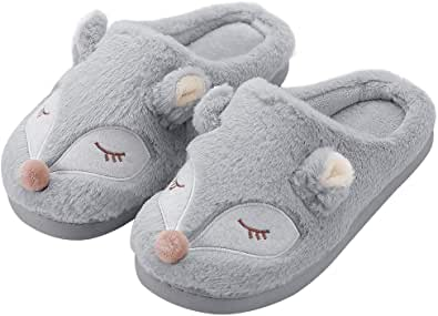 Zapatillas de Mujer Kqpoinw, Zapatillas de Casa de Mujer Zapatillas Peluche Mujer Zapatillas Antideslizantes de Animales Zapatillas de Casa Tamaño 3 4 5 6 7 8