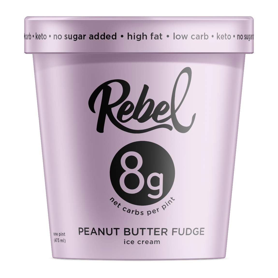 Rebel, Ice Cream Peanut Butter Fudge, 16 Ounce