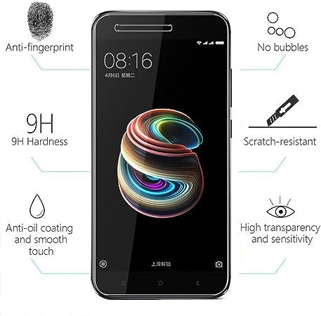 2 Pack] Xiaomi Mi A1 Protector de Pantalla, Electro-Weideworld ...