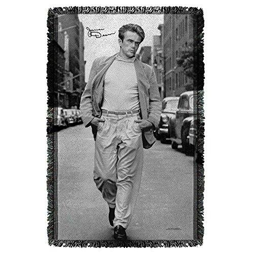 James Dean Walk Woven Throw White 48X80