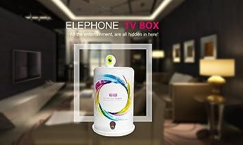 Elephone Smart TV Box Android 4.4 RK3188 Quad Core 1GB 8GB 5.0MP WIFI cámara Blanca: Amazon.es: Electrónica