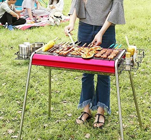 YANGLILI Grill, Charcoal Grill - Stainless Steel Grill - BBQ Carbon Oven - Portable Folding Grill