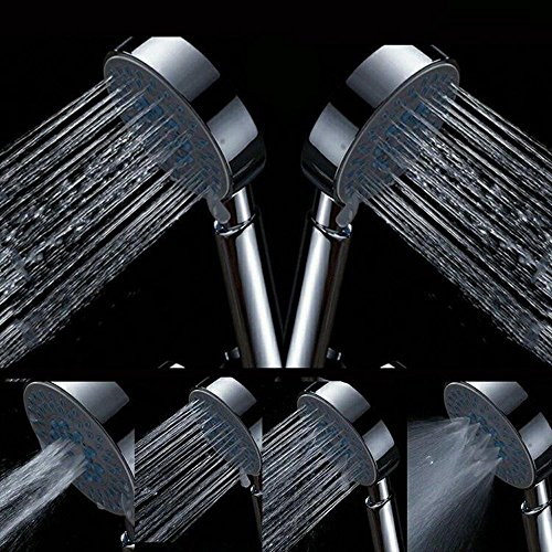 high-quality Handheld Shower Head Set - BeGrit 5-Setting Universal Showering Components Handshower with 5 Feet Ultra-Flexible Hose and Shower Mount