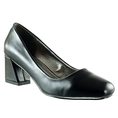 Angkorly - damen Schuhe Pumpe - Dekollete - Patent Blockabsatz high heel 5.5 CM