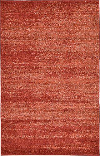 Unique Loom Del Mar Collection Contemporary Transitional Terracotta Area Rug (3' 3 x 5' - Cotta Transitional Terra