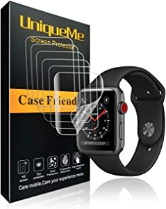 INGLE [6 Pack] for Apple Watch Screen Protector (42mm Series 3/2/1 Compatible), [Anti-Bubble] [HD Clear] Full Coverage Film