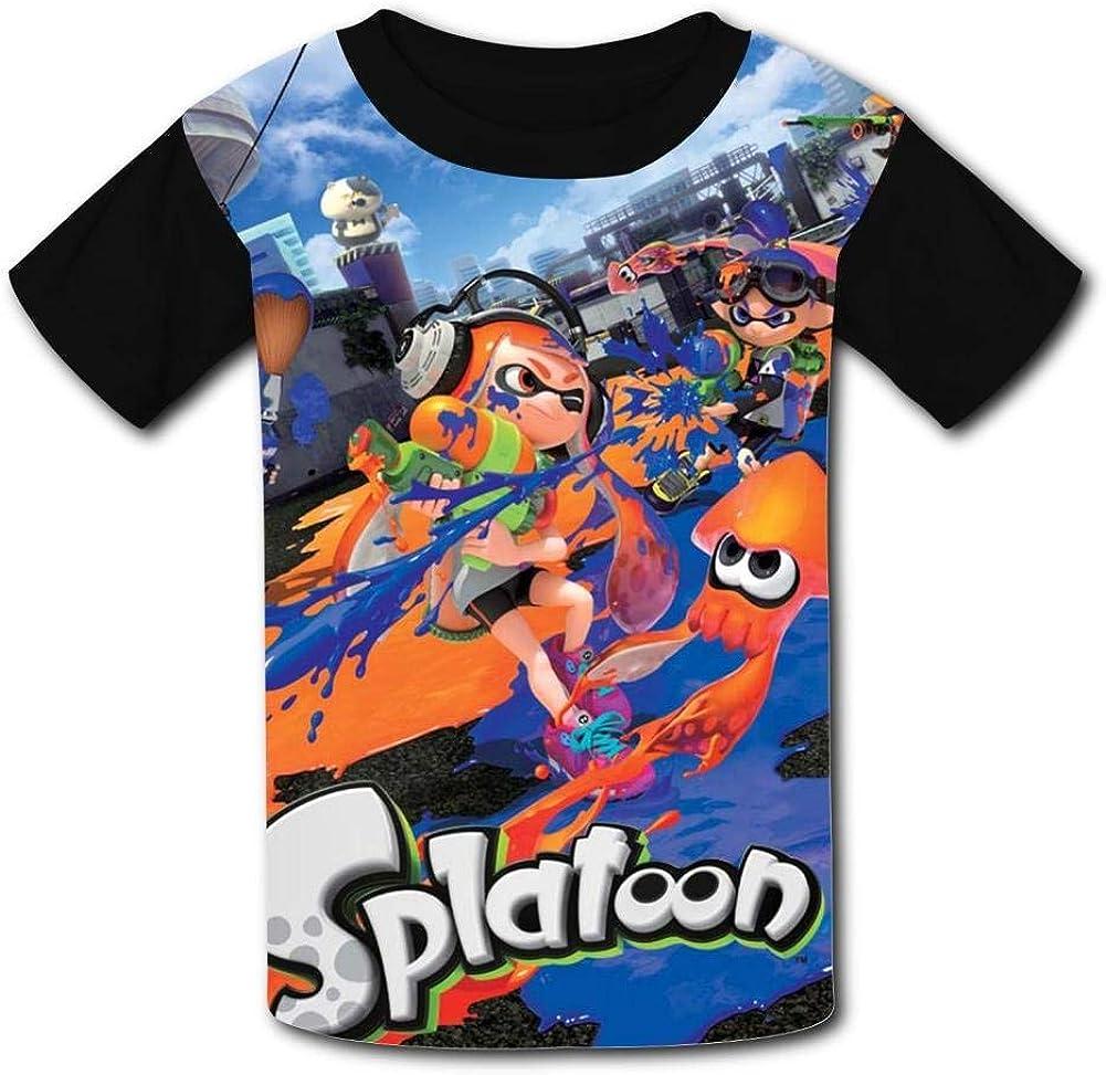 Orange Spla/_toon Inklings Squid Youth Tees Shirts 3D Print Kids T-Shirts