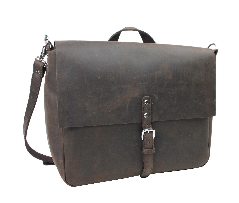 Vagabond Traveler Full Grain Leather Casual Messenger Bag LM26 by Vagabond Traveler