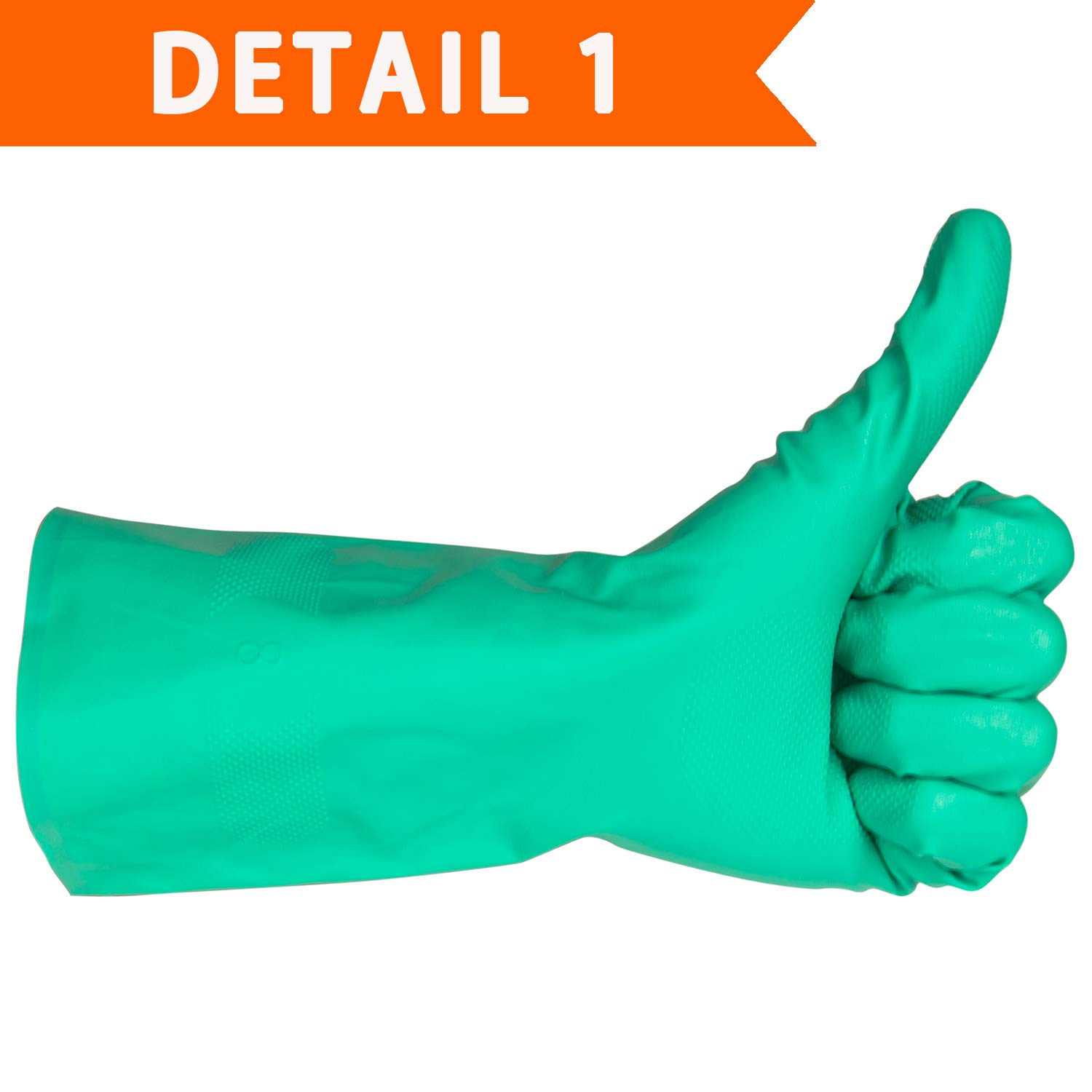 Latex Rubber Free Resist Household Acid ThxToms Nitrile Chemical Resistant Gloves Solvent and Oil Alkali 1 Pair Medium