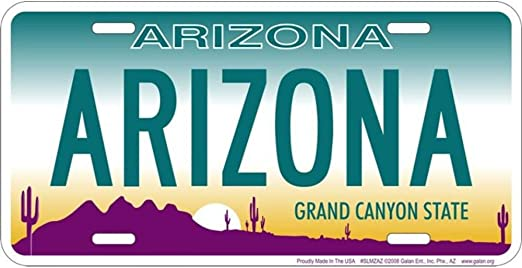 License Plate Signs 4 Fun Slmzho AZ-2 Hot