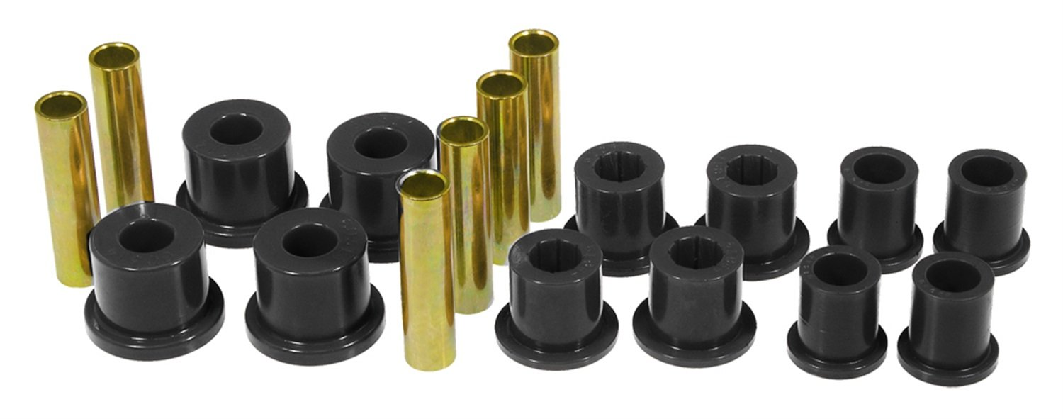 Prothane 6-1018-BL Black Rear Spring Eye and Shackle Bushing Kit