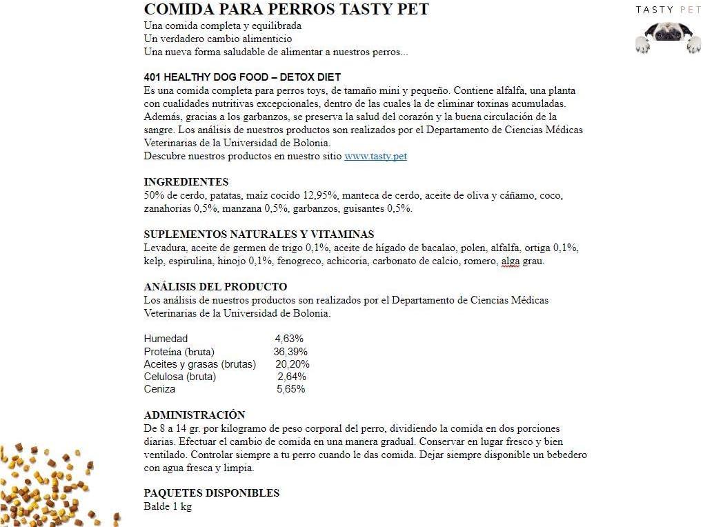 Tasty Pet Comida para Perros 1000 g: Amazon.es: Productos ...