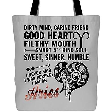 Amazon.com: Bolsas de lona para compras Im An Aries – Bolsa ...