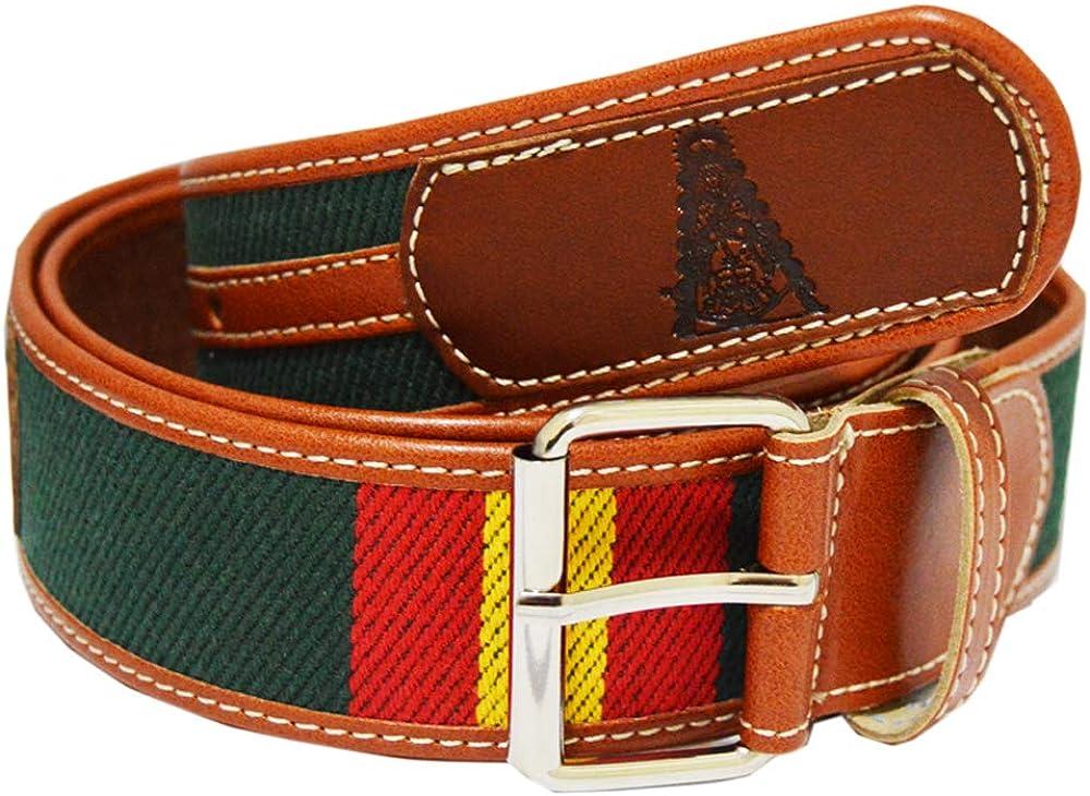 ALBERO Cinturón piel Virgen del Rocío. Color verde. Medida: 120 cm. (Preparado para cortar).: Amazon.es: Ropa y accesorios