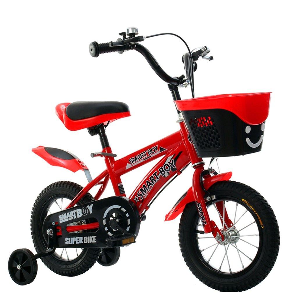 KANGR-子ども用自転車 子供の自転車アウトドアマウンテンバイク2-3-6-8ボーイズとガールズ子供用玩具調節可能ハンドルバー/トレーニングホイール付きサドル-12 / 14/16/18インチ ( 色 : 赤 , サイズ さいず : 16 inch ) B07BTWQJDS 16 inch|赤 赤 16 inch