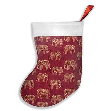 Amazon Com Malsjk8 Henna Elephants Christmas Stockings Fireplace