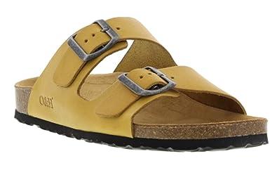 Oak & Hyde Malaga Vintage Yellow Super Lemon Leather (Birkenstock Style Sandals)