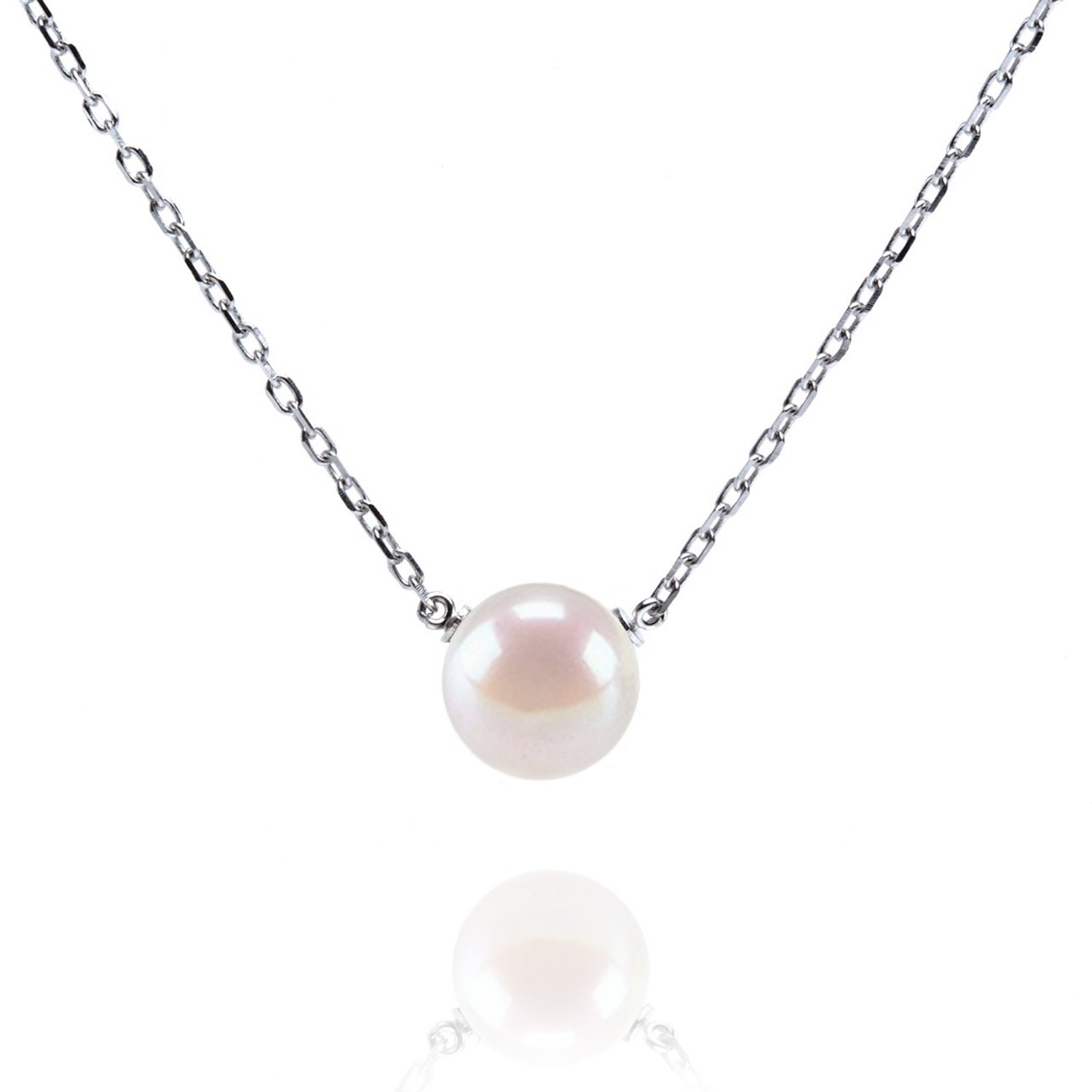 PAVOI Handpicked AAA+ Freshwater Cultured Pearl Necklace Pendant - White