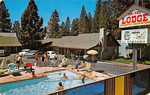 Kings Beach California Ta Tel Lodge Pool View Vintage Postcard K37269