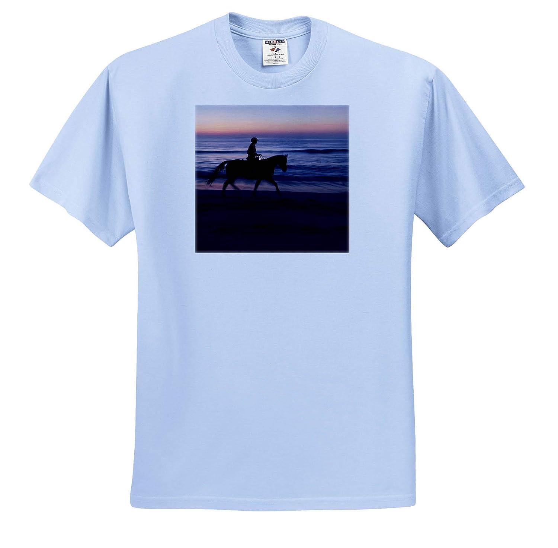 Morning Ride Adult T-Shirt XL Florida Vilano Beach ts/_314775 3dRose Danita Delimont Horses