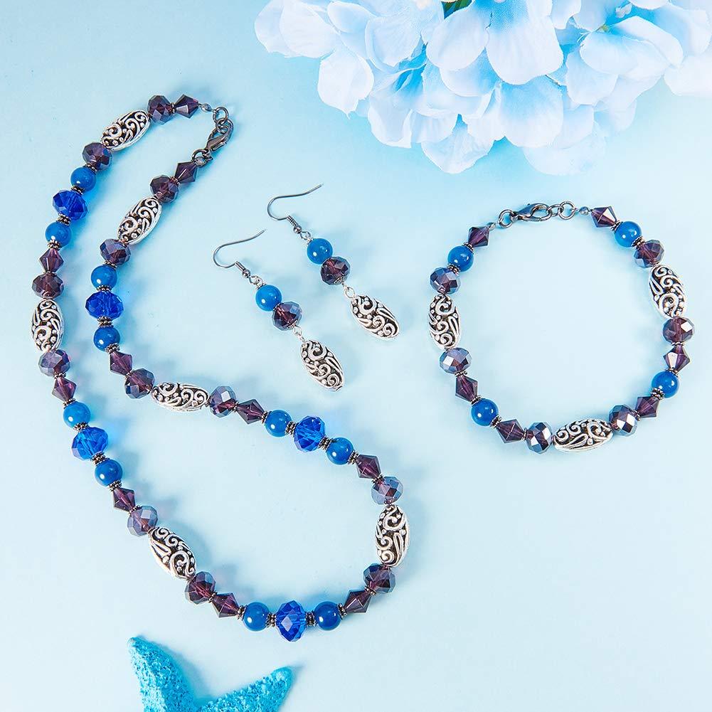 SUNNYCLUE 1 bo/îte Bricolage 1 Set de Fabrication de Bijoux kit Perlage Kits de d/émarrage Fabrication de Bijoux Fournitures pour Adultes,Pinces /à Pinces de Homard,Bleu