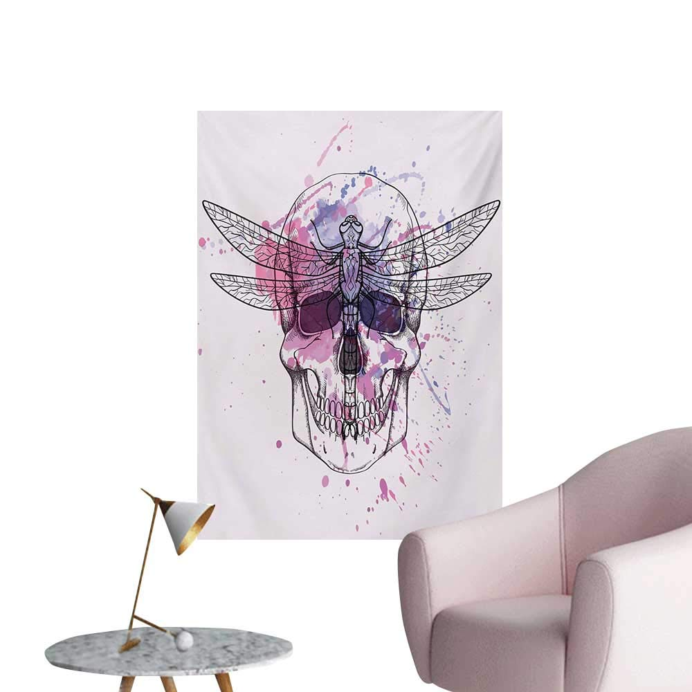 Amazon Com Anzhutwelve Skull Wallpaper Grunge Illustration Of