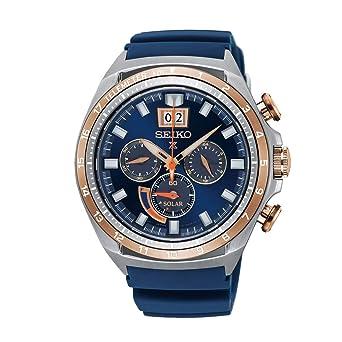 Seiko Reloj Cronógrafo para Hombre de Energía Solar con Correa en Silicona SSC666P1: Seiko: Amazon.es: Relojes