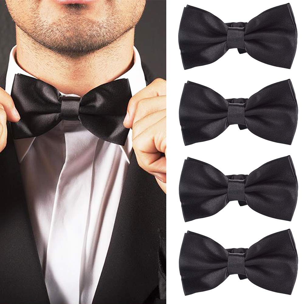 YANN Elegant Adjustable Pre-tied bow ties for Men Boys in Different Colors 6pcs