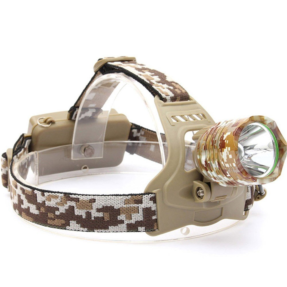 Vory 4000 LM XM-T6 LED Stirnlampen Camouflage LED Kopfleuchte wiederaufladbare Laterne Lampe Camping Wandern Angeln Licht