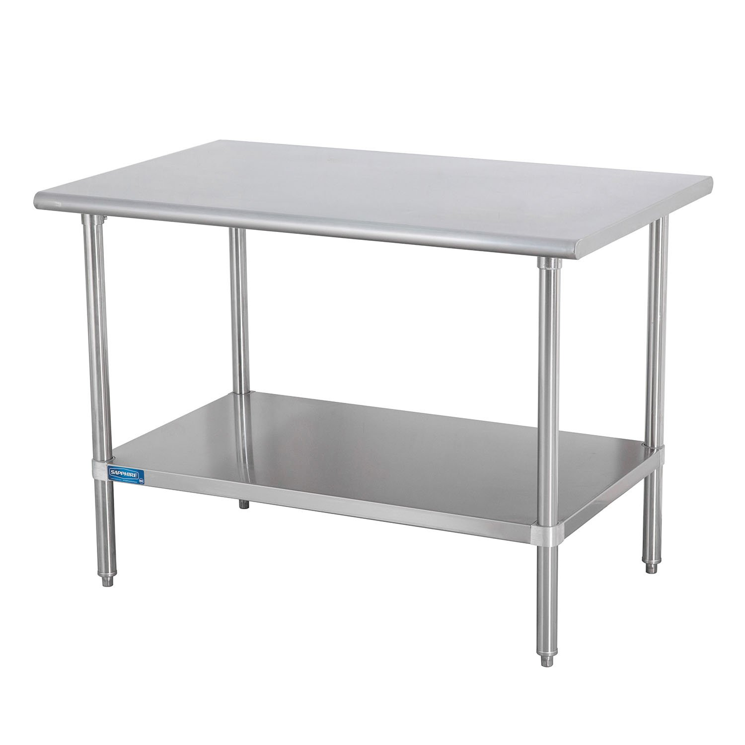 Sapphire Manufacturing Commercial Worktable 30 Wide x 18 Deep x 36 High Stainless Steel Top with Galvanized Steel Legs and Undershelf