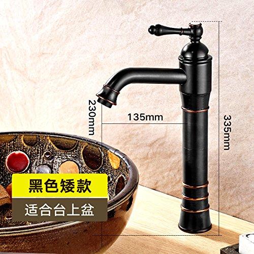 032K platform black basin antique Maifeini European Style Black Antique Faucet, All Copper Bathroom, Hot And Cold Washbasin, Basin Washbasin, Faucet,032F Taiwan Basin Imitation Patina