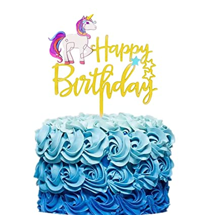 Amazon JeVenis Cutiee Unicorn Happy Birthday Cake Topper Decoration For Party Baby Shower Supplies Toys