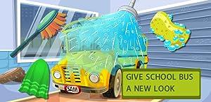 School Bus Car Wash-Funny Cleaning&Good Kid