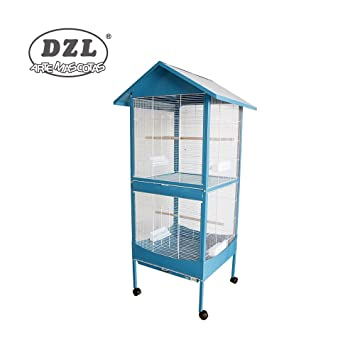 DZL Jaula Voladera para Todo Tipo De Pajaros 2 Compartimentos 60x60x167 cm Color Entrega al azal: Amazon.es: Jardín