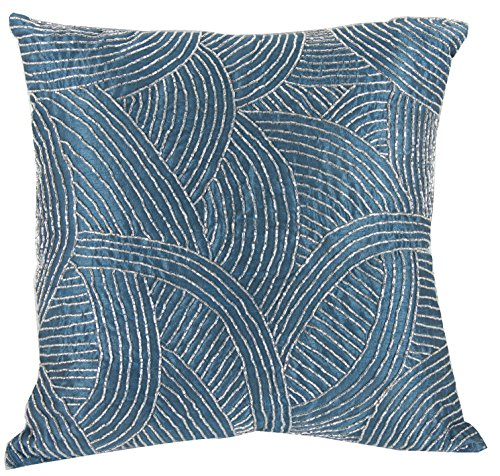 - A&B Home Poly Silk Beaded Throw Pillow