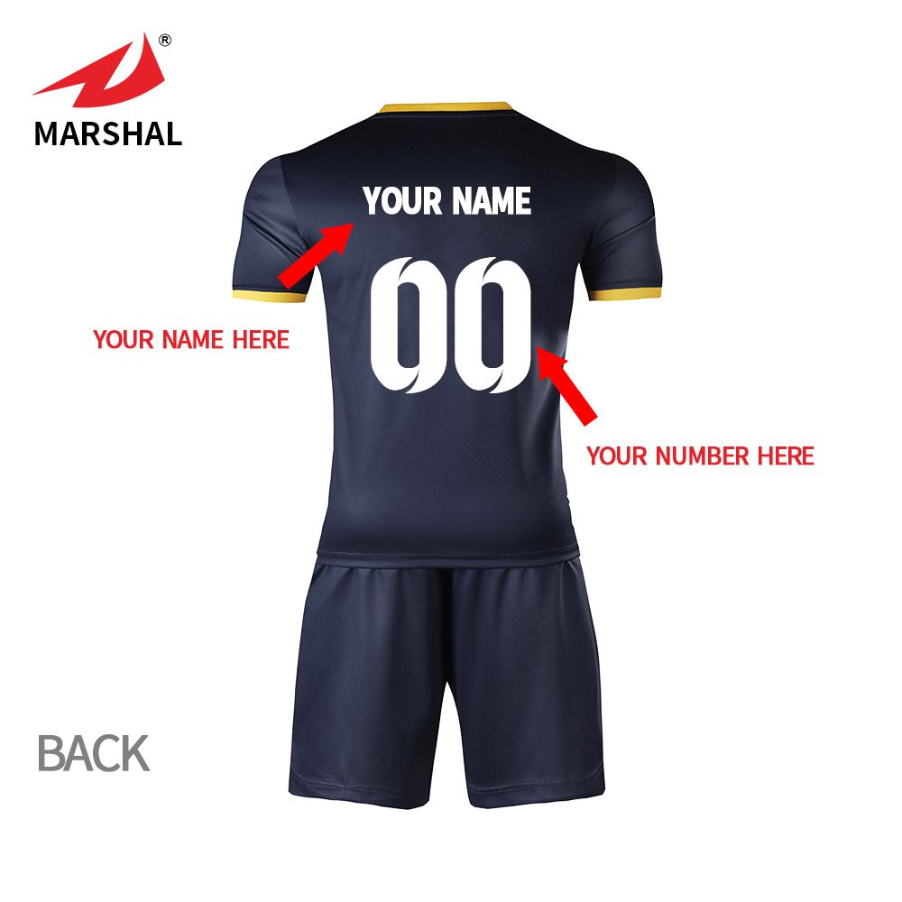f3b5b8dd1 ZHOUKA Mens jerseys custom shirts youth football kit soccer uniforms black  with yellow  Amazon.co.uk  Sports   Outdoors