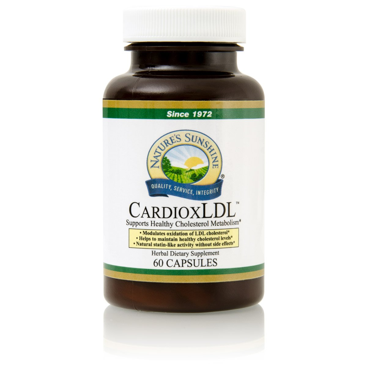 Nature's Sunshine CardioxLDL, 60 Capsules | Cholesterol Supplement with Powerful Herbal Formula That May Help to Modulate LDL Cholesterol Oxidation