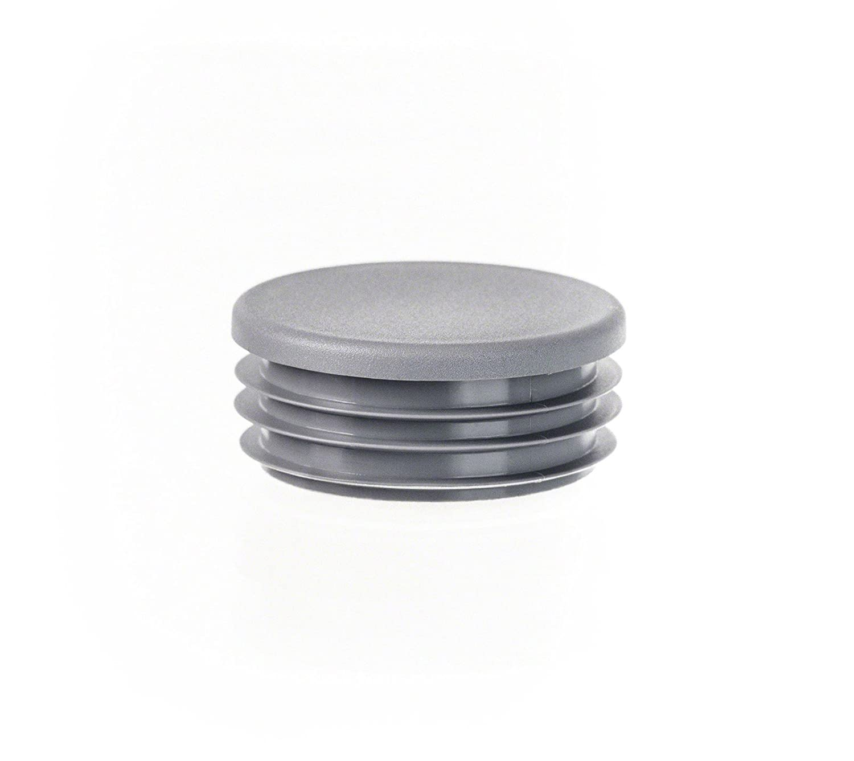 5 pcs. bouchon pour tube rond 50 gris plastique Capuchon Bouchons