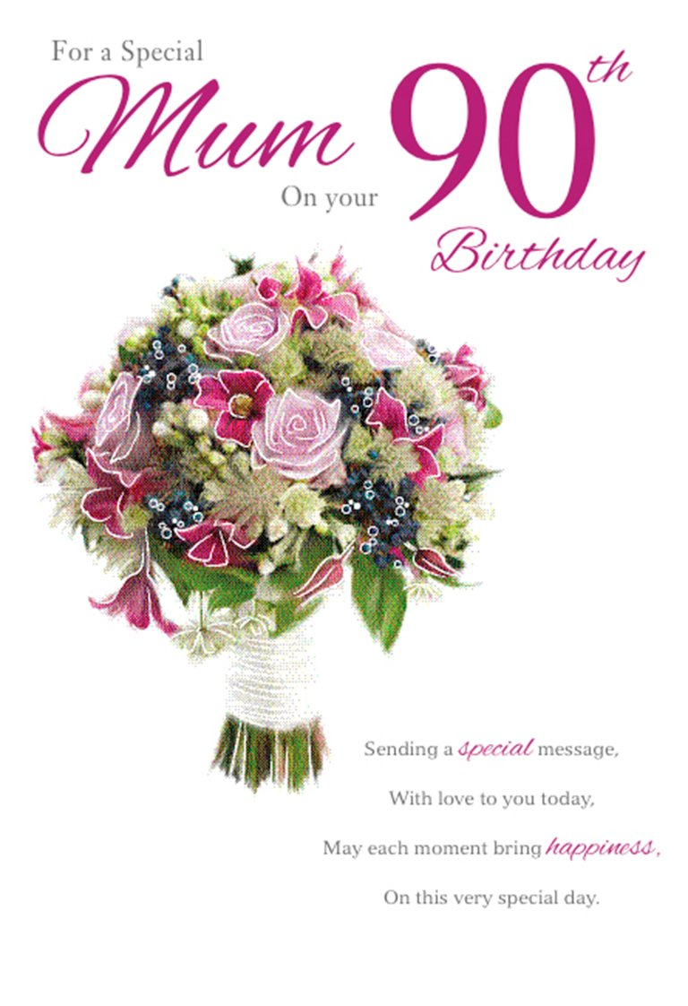 Mum 90th Birthday Birthday Card Amazon Kitchen Home