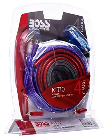 boss audio systems kit10 4 gauge amplifier installation wiring kit a car amplifier wiring kit helps you make connections and brings power to your  boss audio wiring kit for #4