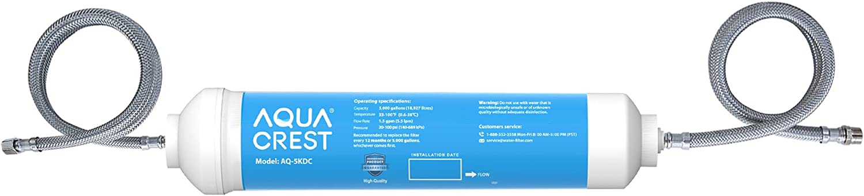 AQUACREST 5KDC Under Sink Water Filtration System, Direct Connect Under Sink Water Filter, NSF Certified 5K Gallons Ultra High Capacity, USA Tech