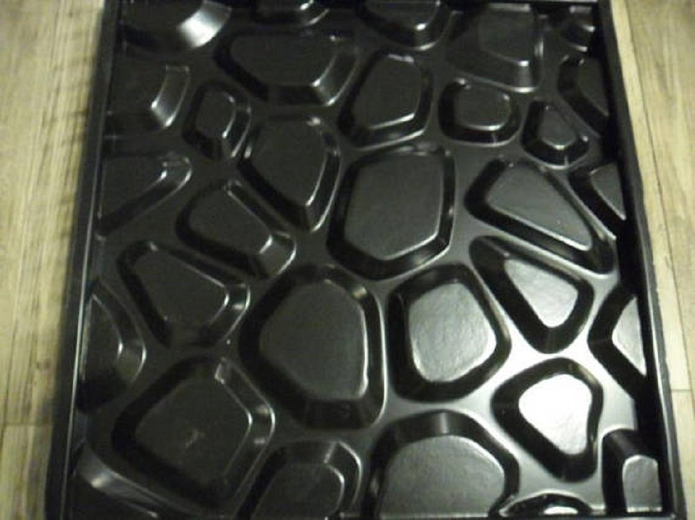 Plastic mold for 3d decor wall panels #32, for plaster (gypsum) or concrete
